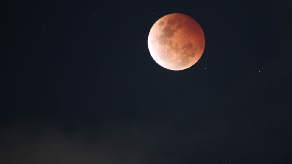 «Кровавая Луна» над Сиднеем, Австралия