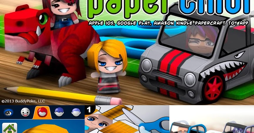 Toy App For Kindle Fire : Ninjatoes papercraft we paperchibi apple ios google
