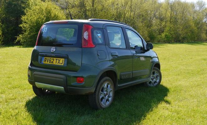Fiat Panda 4x4 rear side view