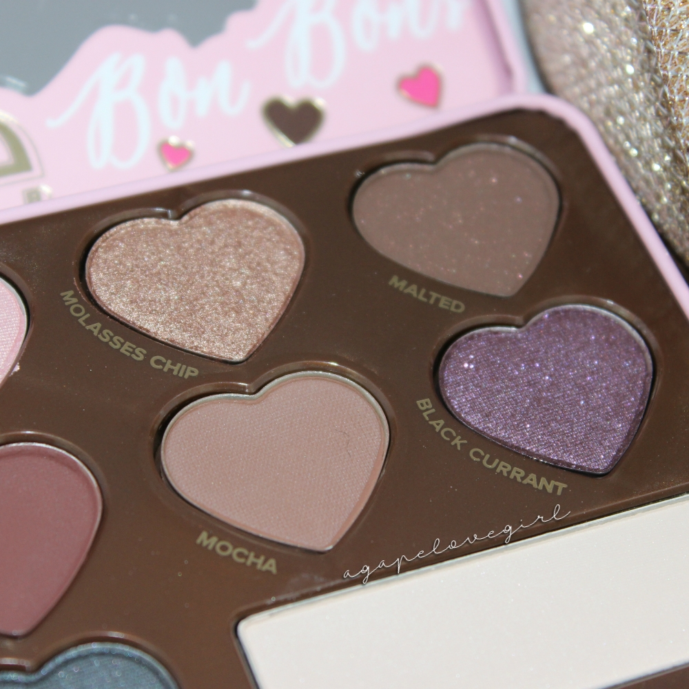 agape love designs too faced chocolate bon bons palette first impressions swatches. Black Bedroom Furniture Sets. Home Design Ideas