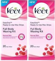 Ebay: Buy Veet Full Body Waxing Kit Normal (Pack of 2)(100 g) at Rs. 276  only:buytoearn