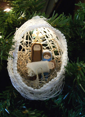 String nativity ornaments
