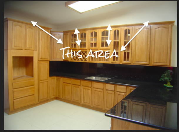 How To Cover Space Above Cabinets |