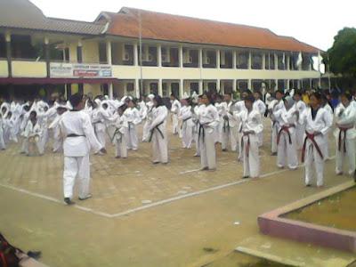 taekwondo kota sukabumi latihan bersama