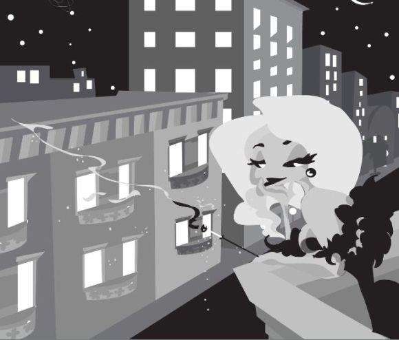 Nina Mierowska ilustrações pin-ups garotas caricatas sensuais mulheres Noir