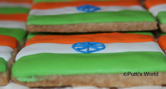 India Flag Cookie