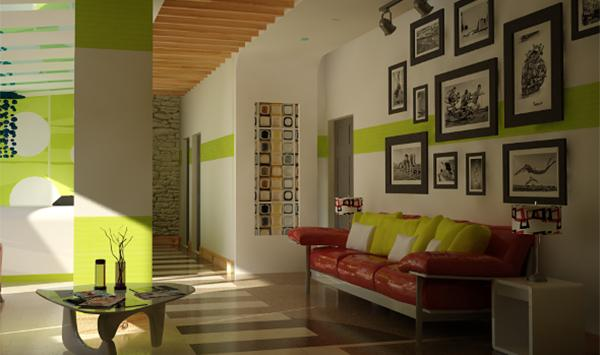 kumpulan gambar lukisan ruang tamu minimalis terbaru ide