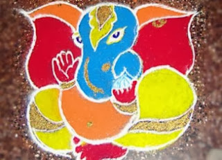 Ganesh Rangoli Designs for Diwali 2013