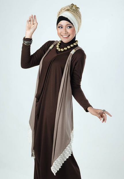 Model Baju Muslim Casual Santai