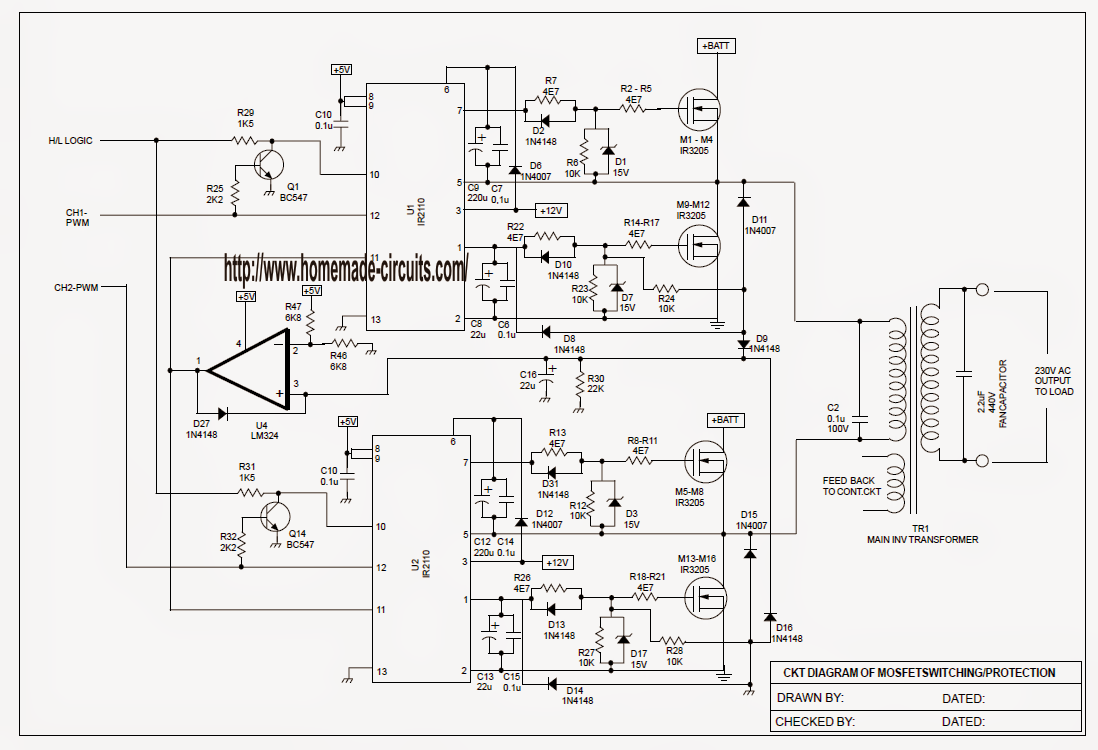 sinewave ups circuit using pic16f72 part
