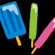 色々なアイスキャンディーのイラスト