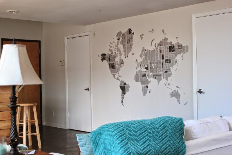 DIY: Newspaper Map Wall art - Taylor Allan Photography