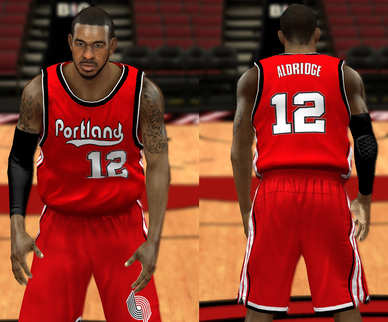 NBA 2K14 Portland Trail Blazers 70's Jersey Patch