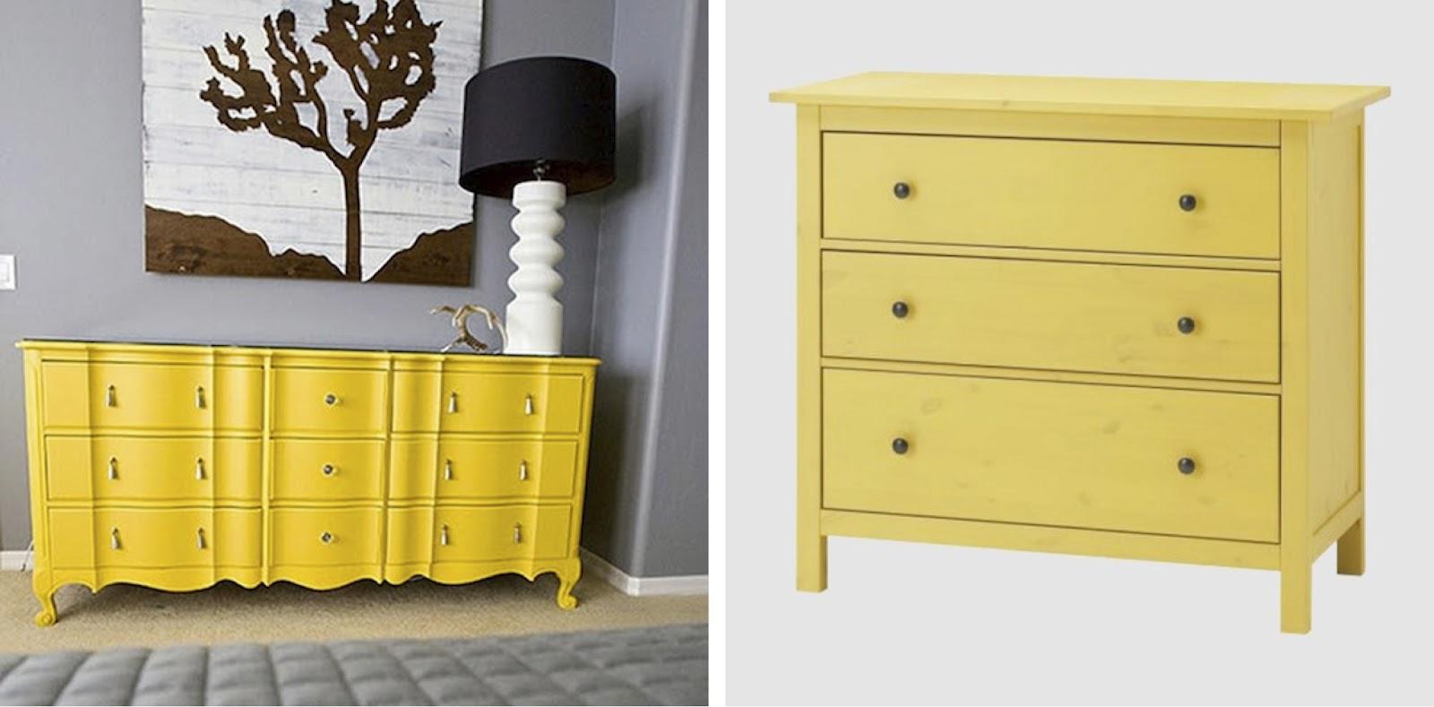 Black white yellow yellow dressers for Ikea trollsta cabinet
