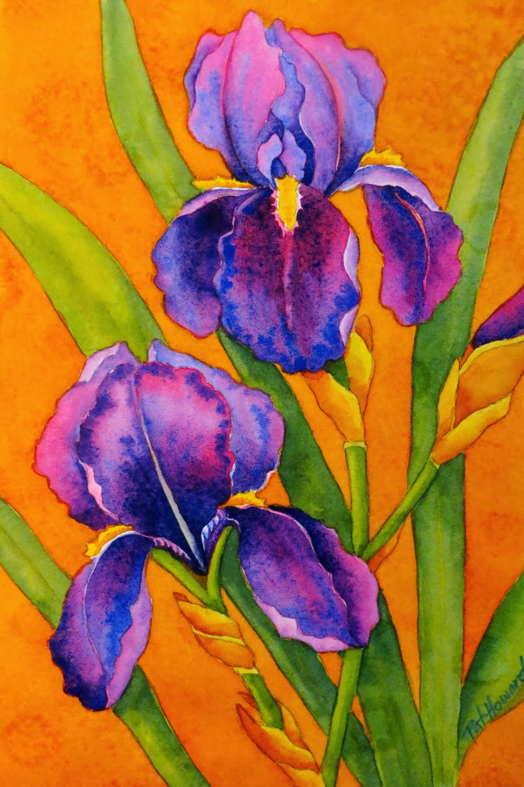 WATERCOLOR WORKSHOP: Painting Bearded Irises