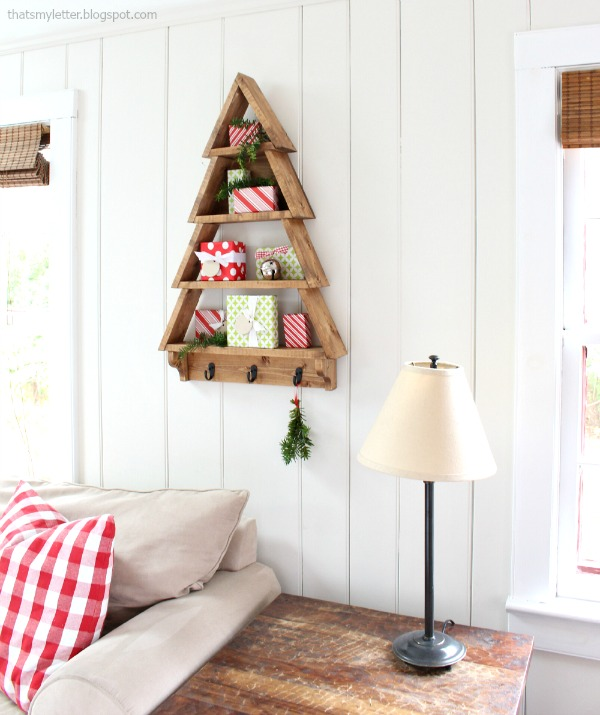 diy tree shelf wall decor