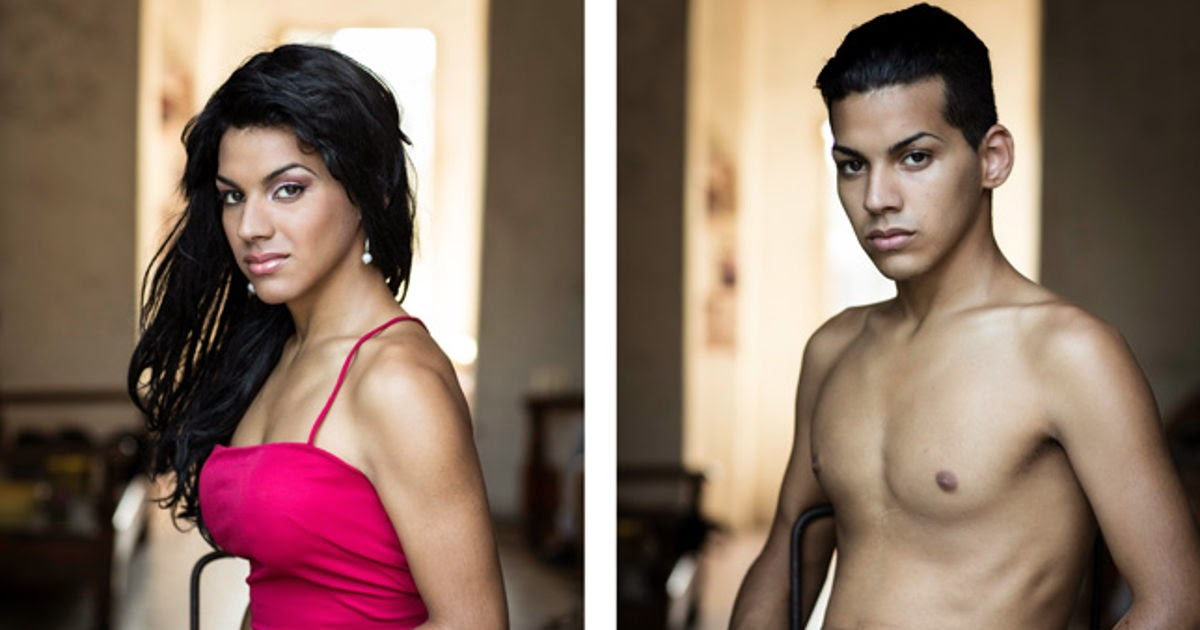 stunning before and after photos of men and women undergoing gender transitioning in Cuba