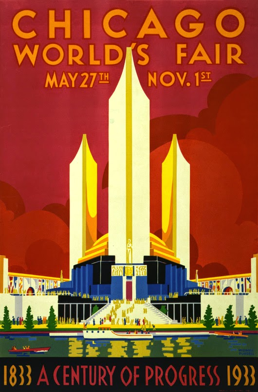 advertising, classic posters, free download, free printable, graphic design, printables, retro prints, travel, travel posters, vintage, vintage posters, vintage printables, Chicago 1933 World's Fair Vintage Poster - Vintage Advertising Poster