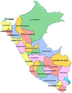 DIBUJO DEL MAPA DEL PERU