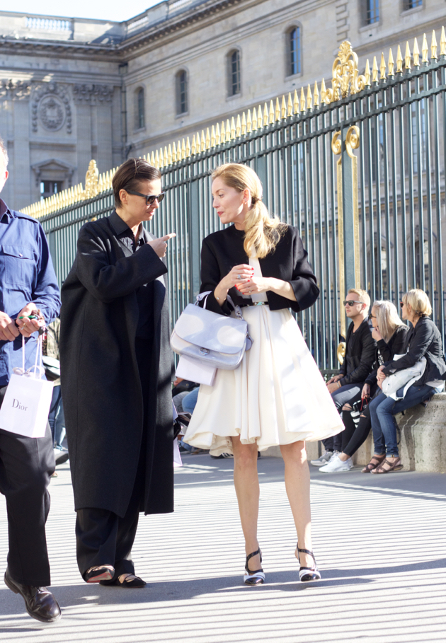 black and white looks after Dior show