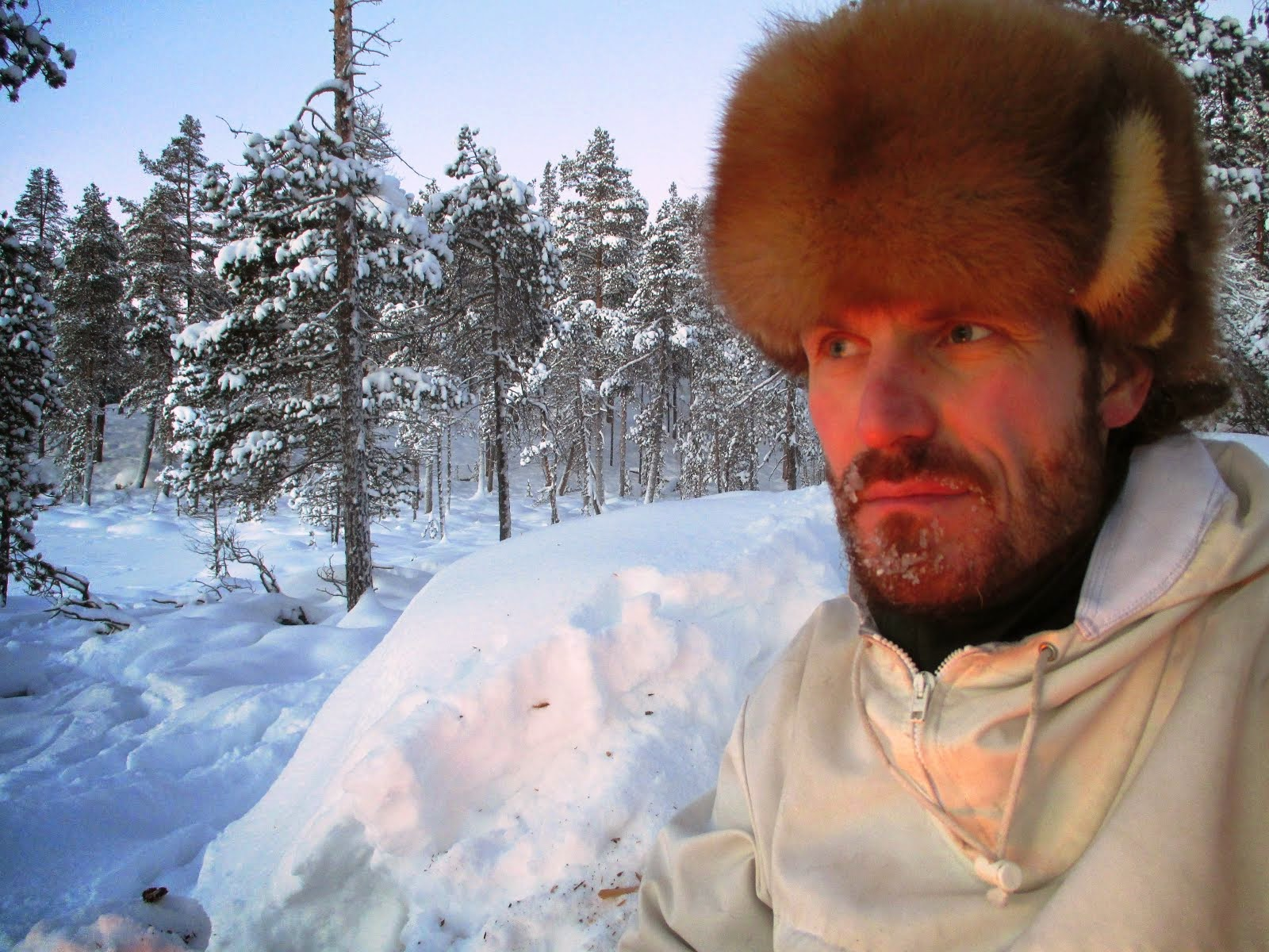 An outdoorsman living in northern Finnish lapland.