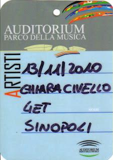 Pass Chiara Civello Auditorium Roma 2010