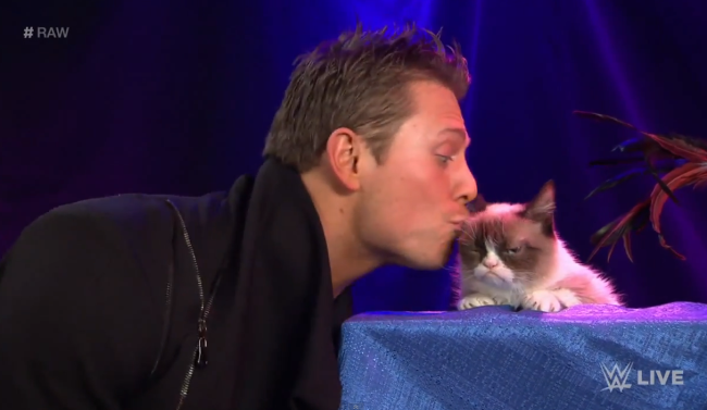 Mizdow Grumpy Cat Movie WWE Raw Miz