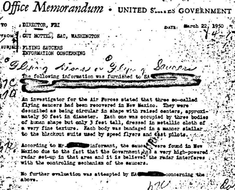 FBI Roswell UFO