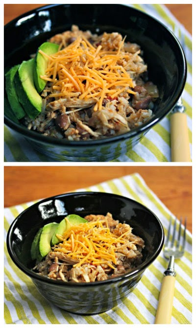 Slow Cooker Chicken and Pinto Bean Burrito Bowl