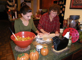 Christina & My Mom Making Apple Pie
