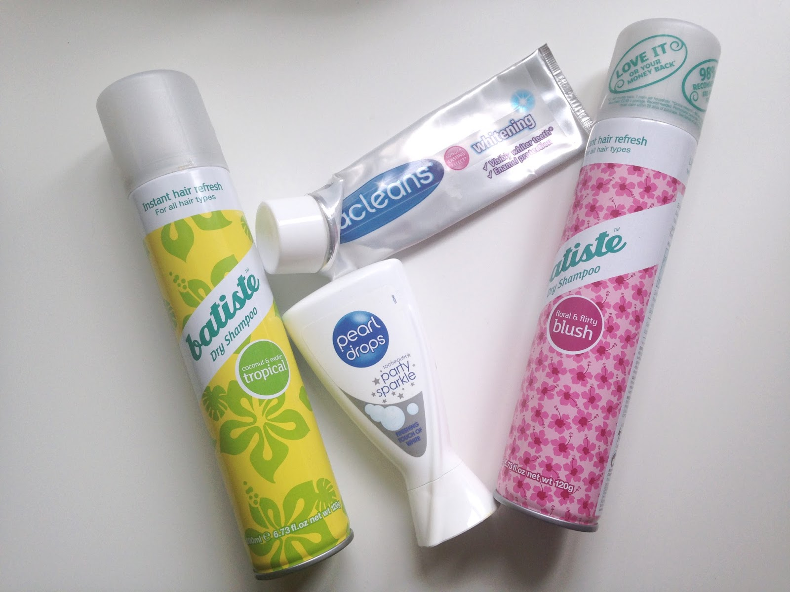 Batiste Dry Shampoo Pearl Drops Party Sparkle Macleans Whitening