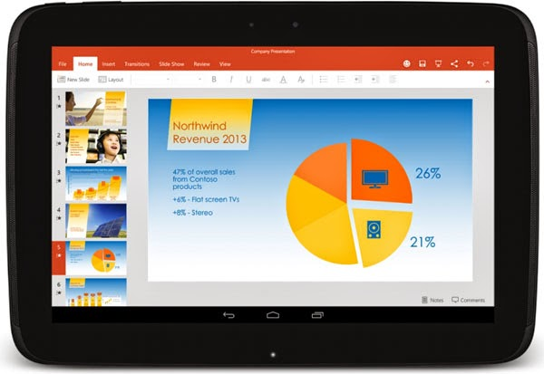 Microsoft releases Office Word, Excel and PowerPoint apps for Android tablets