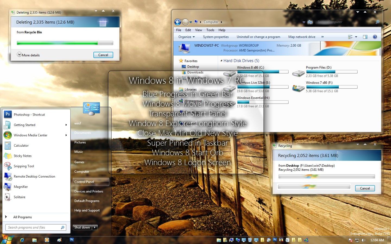 Merubah Tampilan Windows 7 Seperti Windows 8