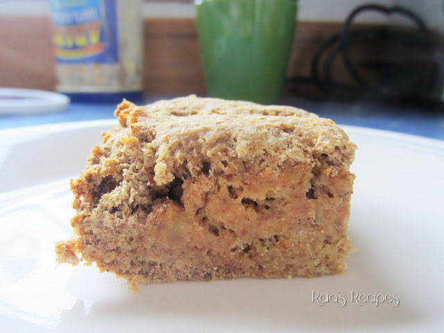 Easy Applesauce Breakfast Cake by raiasrecipes.blogspot.com