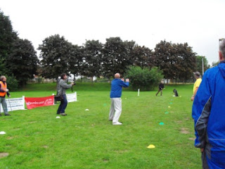 Photo from the World Alternative Games Egg Throwing Championships in Llanwrtyd Wells