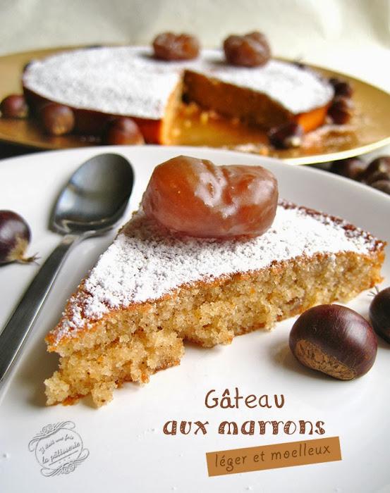Gâteau marron et vanille