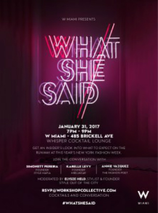 "Snappin Event: ""What She Said"" Fashion Talk"