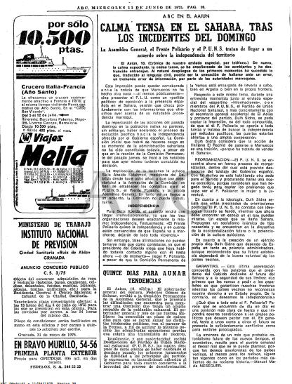 10-6-1975 : La Yemaa, el FP y el PUNS tratan de llegar a un acuerdo sobre la independencia del territorio