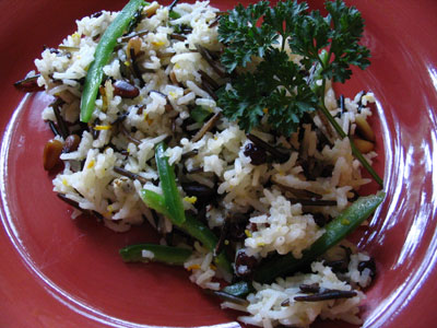 Pine Nut and Orange Wild Rice