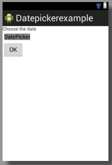 activity main datepicker