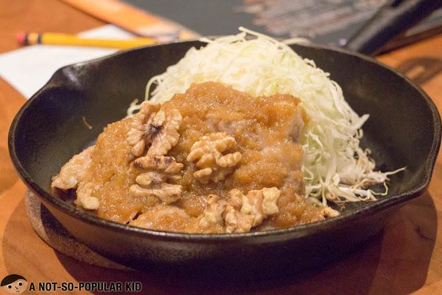 Ginger-Flavored Pork Loin Steak Set