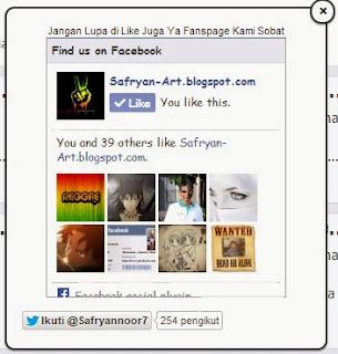 Cara Membuat Fanspage Facebook Dan Twitter Melayang Di Blog