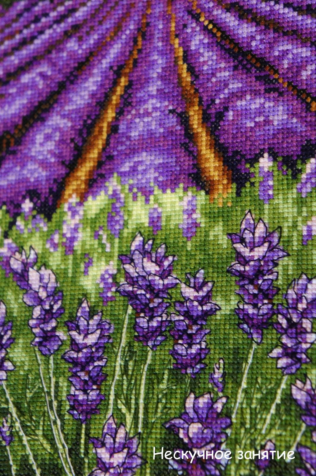 Вышивка анкор лаванда