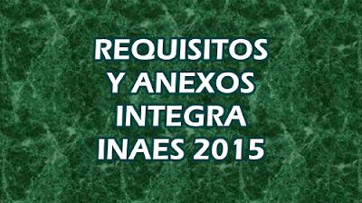 Requisitos para proyectos INAES 2015