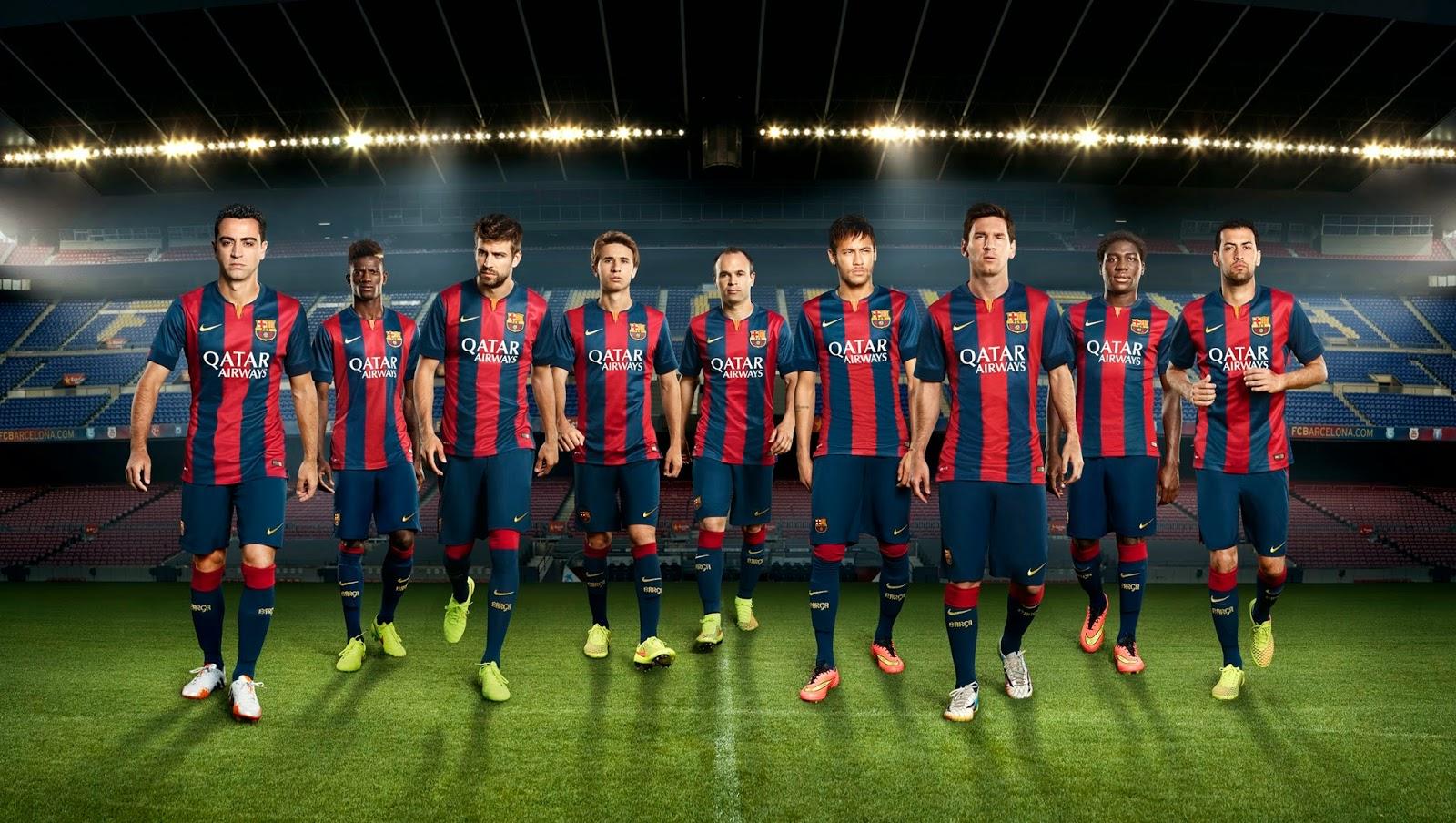 FCB Barcelona Home Kit 2014-15