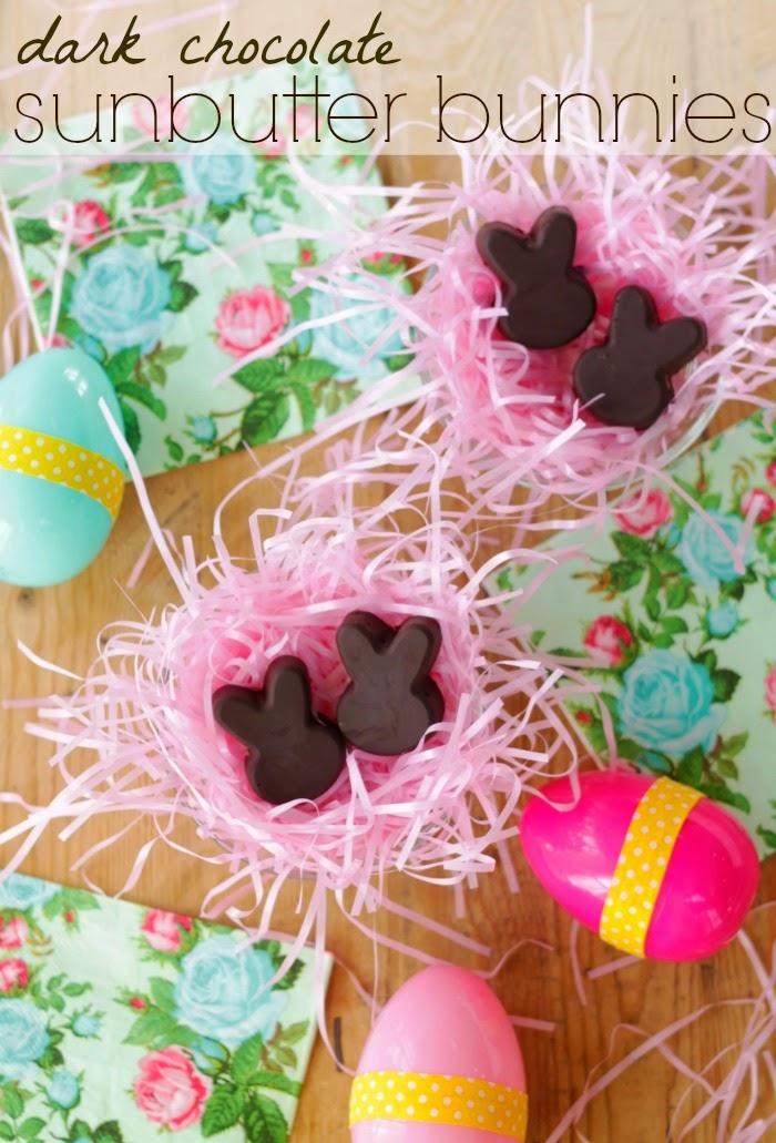 dark chocolate sunflower seed bunnies