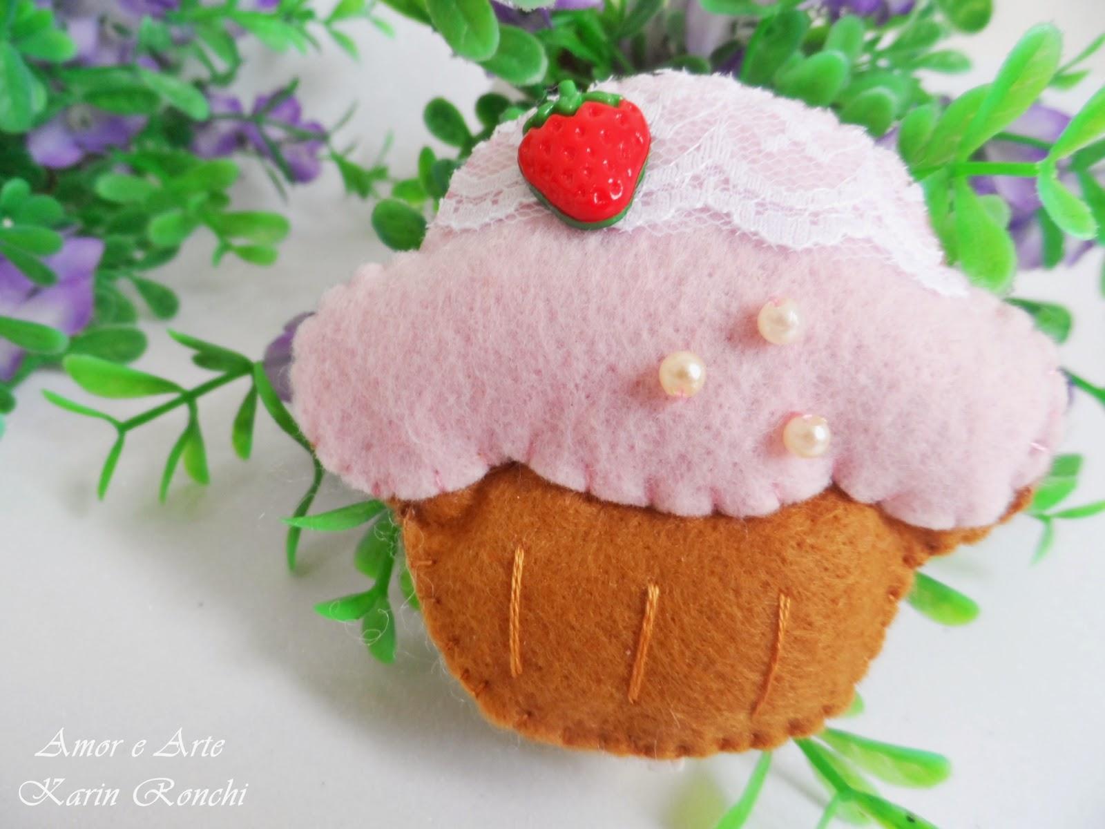 Cupcake Porta-Recados, ímã de geladeira