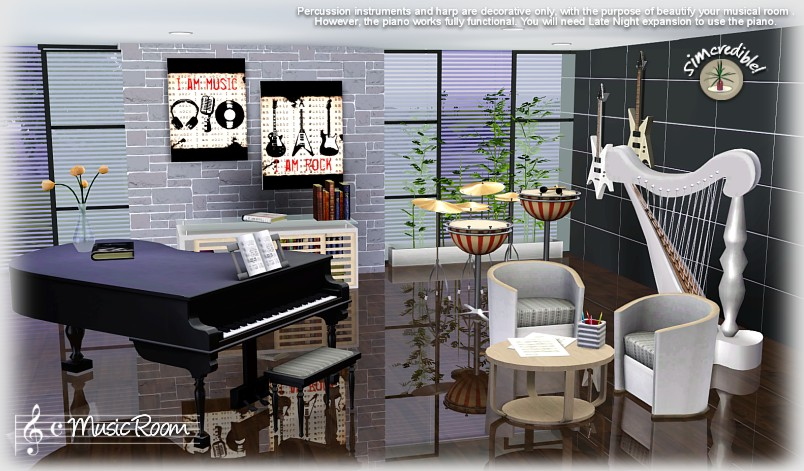 My Sims 3 Blog The Music Room By Simcredible Designs