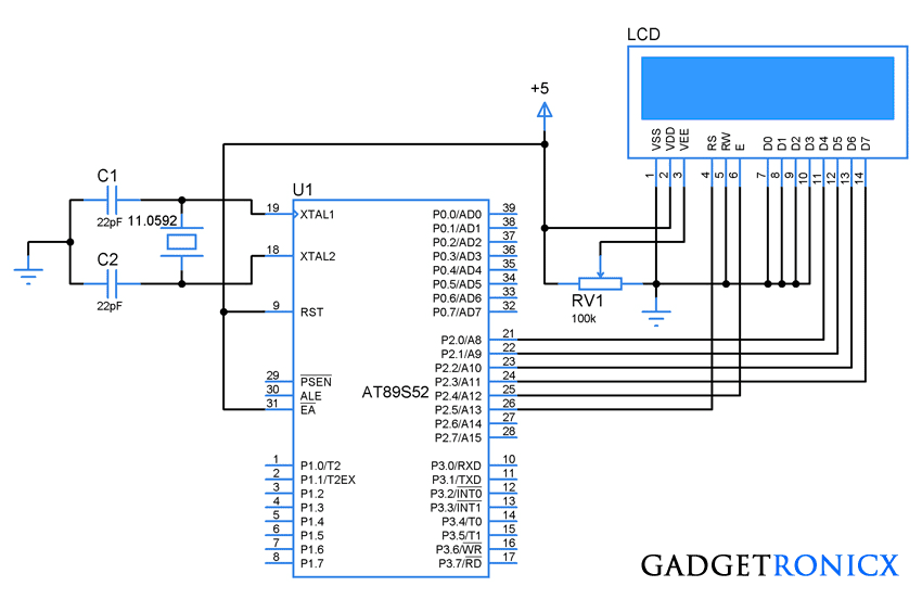 4-bit-interfacing-design-diagram-8051-microcontroller