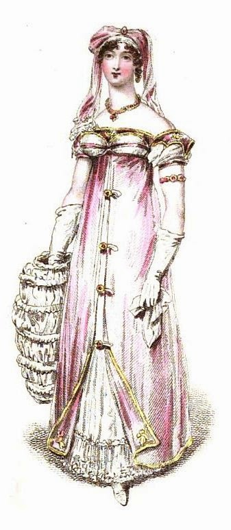 Saxe-Cobourg robe for evening full dress  from La Belle Assemblée (March 1816)